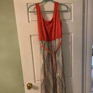 Lily Rose belted maxi dress